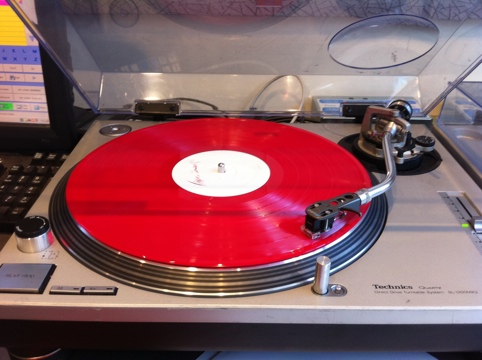 Bon Iver on red vinyl