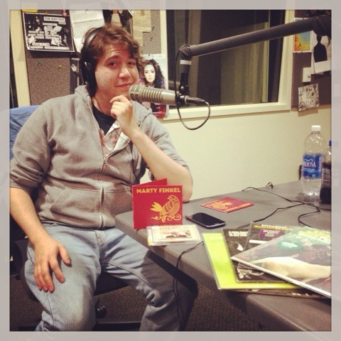 Marty Finkel at WSUM, promoting his new EP, It's Alright Now (Slothtrop Records).