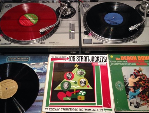 John Denver, Los Straitjackets, Beach Boys. Christmas Albums.