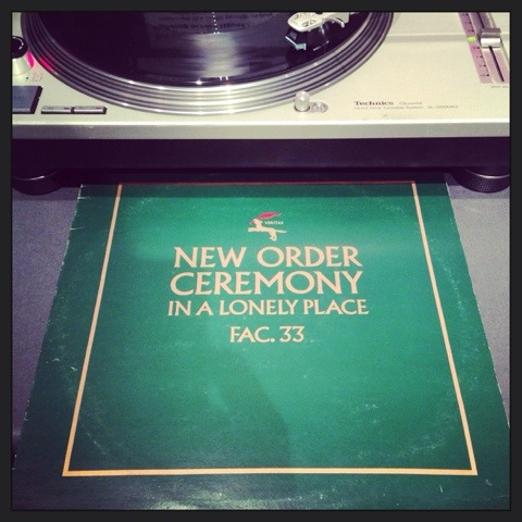 New Order, Ceremony / In A Lonely Place, Factory Records, 1981.