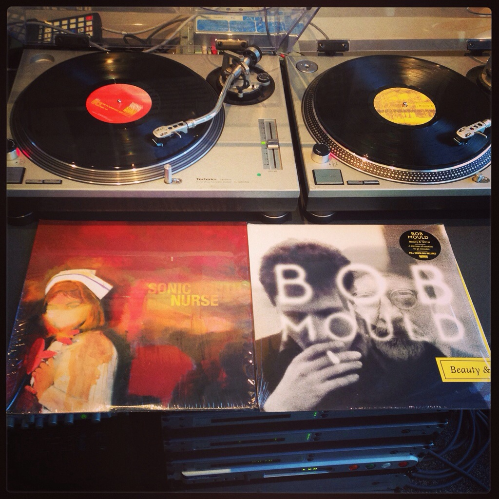 A couple of fuzzed-out wonders: Sonic Youth & Bob Mould.