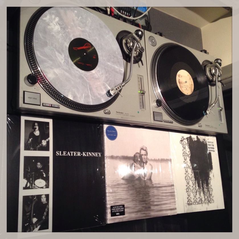 Sleater-Kinney, S/T; Thurston Moore, The Best Day; Sonic Youth, Rather Ripped.
