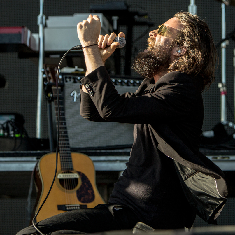 Father John Misty singing at Treasure Island Festival (via Consequence Of Sound).